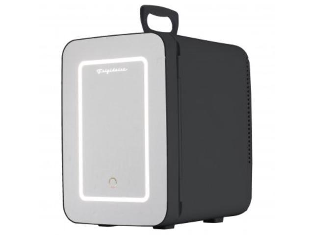 Frigidaire EFMIS170-BLACK .35 Cubic-Foot 10-Liter 15-Can Mini Portable Personal Fridge with Lighted Mirror Door photo