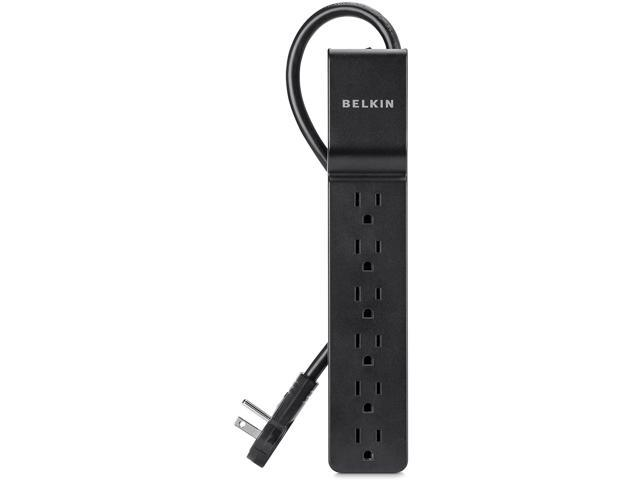6-Outlet Power Strip Surge Protector w/ Flat Rotating Plug, 6ft Cord - Ideal for Personal Electronics, Small Appliances and More (600 Joules) photo
