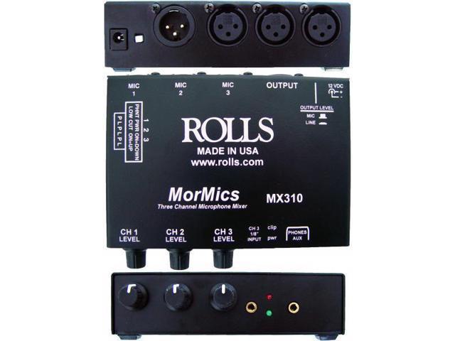 Rolls MX310 MorMics 3 Channel Mic Mixer/Combiner photo