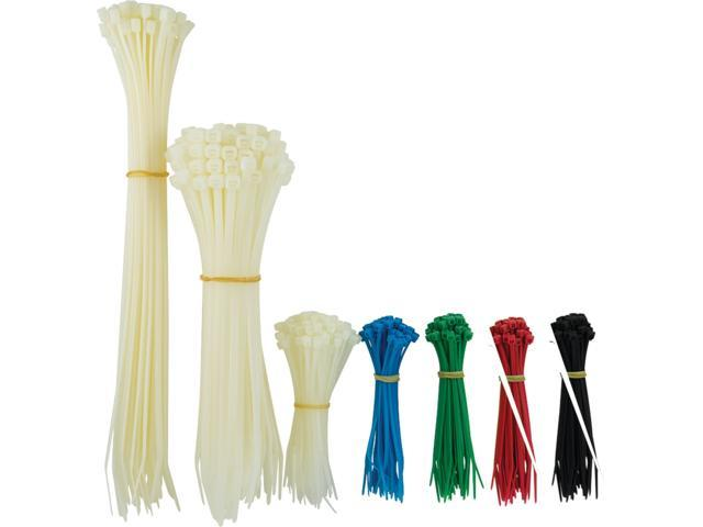 GE 50724 Plastic Cable Ties, Assorted Sizes, 1,000 pk photo