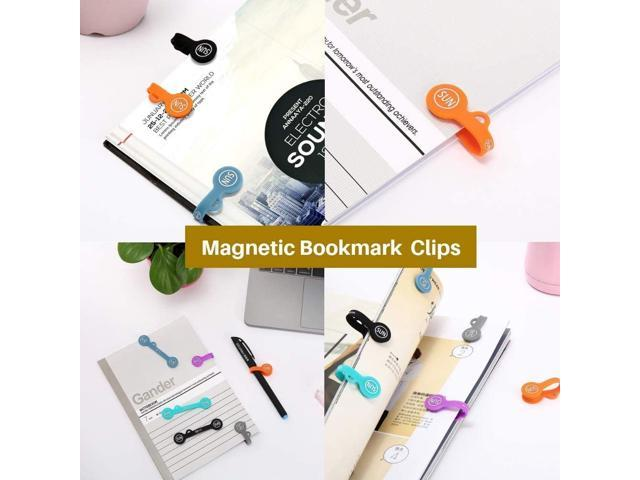 SUNFICON 10 Pack Cable Clips Organizers Earbuds Cord Organizers Magnetic Cable Clips Bookmark Whiteboard Noticeboard Fridge Magnets Keychain. photo