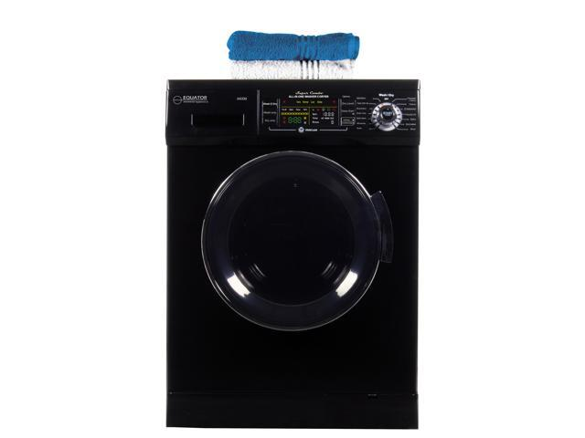 All-in-one 1200 RPM New Version Compact Convertible Combo Washer Dryer with Fully Digital Easy to use Control Panel in Black photo