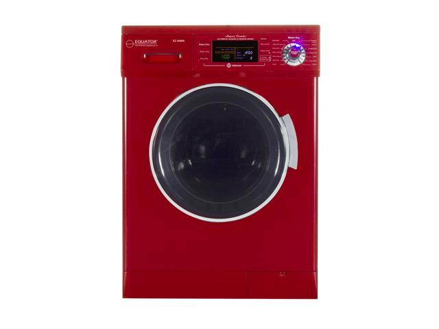 All-in-one 1200 RPM New Version Compact Convertible Combo Washer Dryer with Fully Digital Easy to use Control Panel in Merlot photo