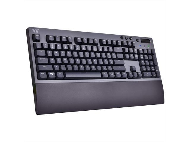 Thermaltake W1 Wireless Gaming Keyboard Cherry MX Blue, 2.4GH per Minute, Bluetooth 4.2, Low Energy Technology, USB Type-C Connection. (Electronics Computer Components Input Devices Keyboards) photo