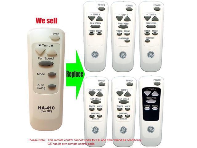 HA-0410 Replacement for GE Air Conditioner Remote Control 6711A20089B Works for AGQ14AH AGQ14AHG1 AGQ18DH AGQ18DHG1 AGQ24DH AGQ24DHM1 photo