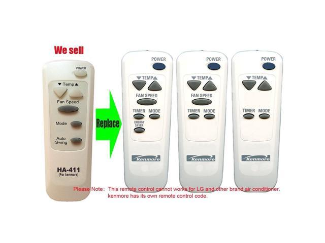 HA-411 Replacement for kenmore Air Conditioner Remote Control 6711A20089C Works for 580.75080 580.75080500 580.75100 580.75100500 580.75180. photo
