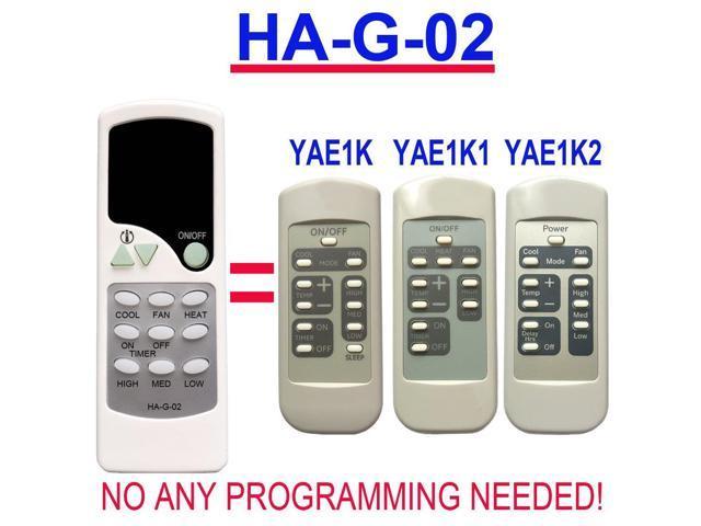 HA-G-02 Replacement for GE Window Air Conditioner Remote Control AJCQ09DCG AJCQ09DCGL1 AJCQ10ACF AJCQ10ACFH1 AJCQ10ACG AJCQ10ACGL1 AJCQ10DCF. photo