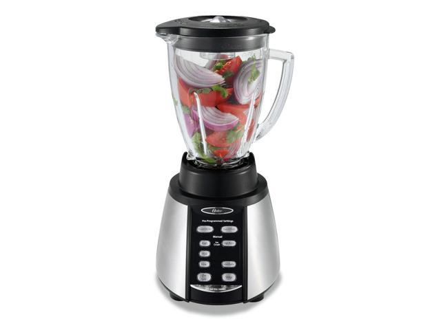 Oster Reversing Motor Blender and Food Processor Counterforms Blender, with 6-Cup Glass Jar, 7-Speed Settings and Brushed Stainless Steel/Black Finish photo