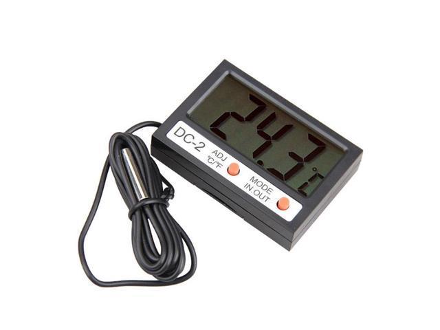 Mini 2.1inch LCD Digital Car Thermometer LCD Display Car Refrigerator Aquarium Electronic Digital Thermometer photo