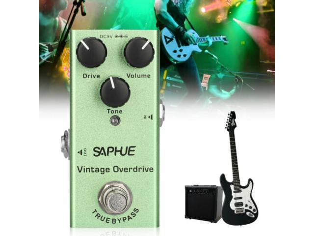 Mini Electric Guitar Vintage Overdrive Effect True Bypass Full Metal Shell DC 9V photo