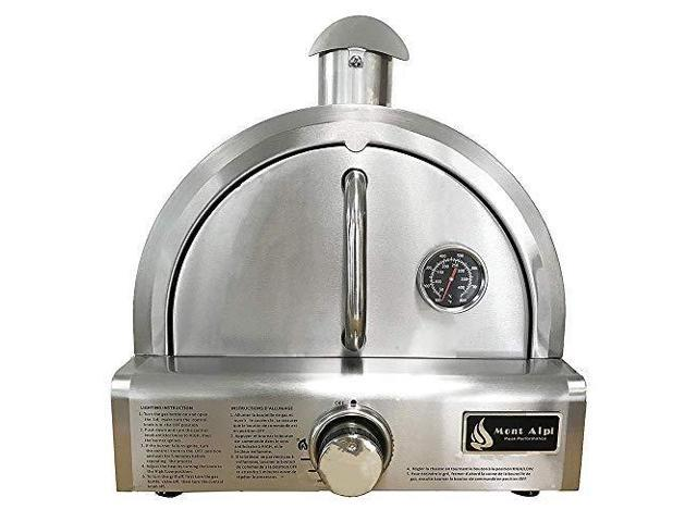Mont Alpi MAPZ-SS Table Top Gas Pizza Oven, Large, Stainless Steel photo