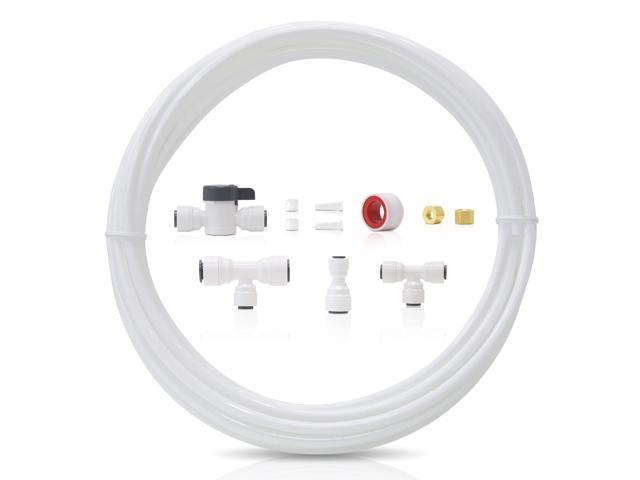 Waterdrop 1/4' Fridge/Ice Maker Water Line Connection Kit for WD-10/15/17UB Series, WD-G2/G3 RO System and iSpring, APEC, Express Water, Home. photo