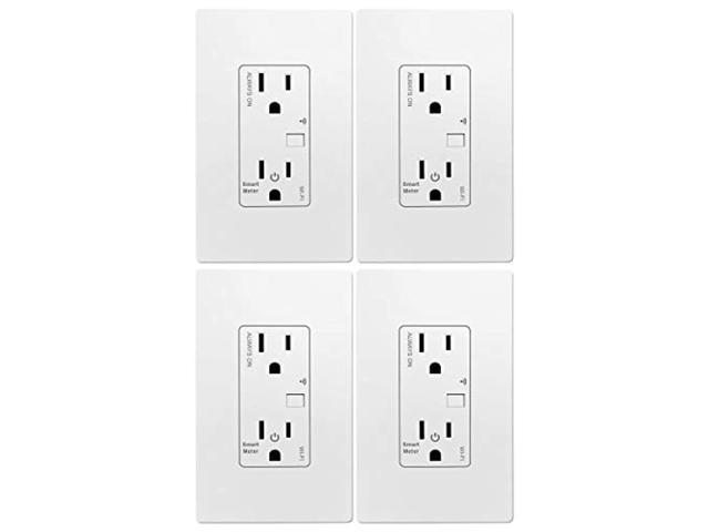 TOPGREENER Smart Wi-Fi Outlet with Energy Monitoring, Tamper-Resistant, Control Lighting and Appliances from Anywhere, in-Wall, No Hub Required. photo
