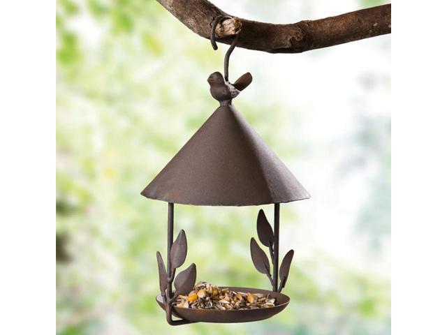 Bird Feeder Bird Outdoor Iron Rainproof Windproof Hanging Style Feeder for Various Pet Birds Feeding Supplies (Electronics) photo