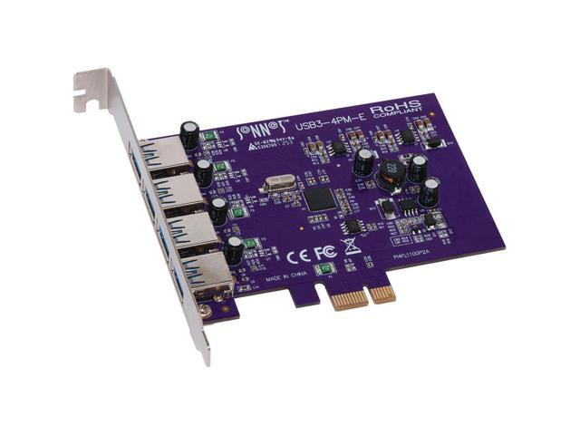 Sonnet Technologies USB3-4PM-E Allegro Usb 3.0 Pcie (4 Ports) - Pci Express - Plug-In Card - 4 Usb Port(S) - 4 Usb 3.0 Port(S) (732311009440 Electronics Computer Components I/O Cards & Adapters) photo