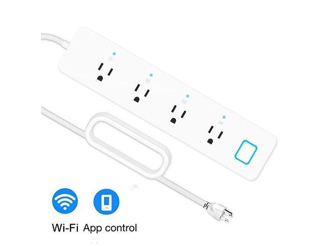 Smart Power Strip Surge Protector WiFi Extension Socket, Compatible with Alexa and Google Home, Smartphone App Control Appliances, Individual. photo