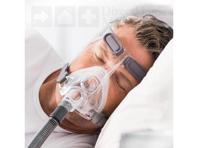 Fisher & Paykel Simplus Full Face CPAP Mask with Headgear - Medium - 400476 - Gray photo