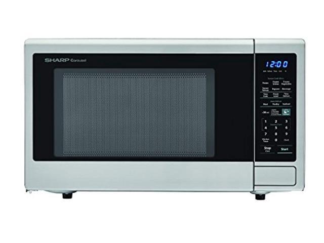 sharp zsmc1842cs carousel 1.8 cu. ft. 1100w countertop microwave oven in stainless steel (ista 6 packaging), cubic foot, 1100 w photo