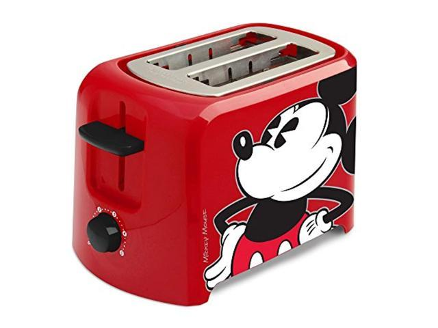 disney dcm-21 mickey mouse 2 slice toaster, red/black, 1, photo