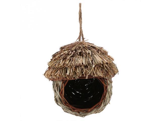 Bird Supplies Natural Coconut Shell Bird Nest House Handmade Woven Straw Bird Nest Cage (Electronics Computers Handheld Devices Pdas) photo