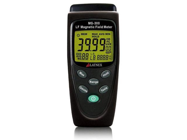 LATNEX MG-300 LF magnetic Field Meter, Measures EMF Radiation from High-Power Transmission Lines, Appliances, Electrical Wires Appliances. photo