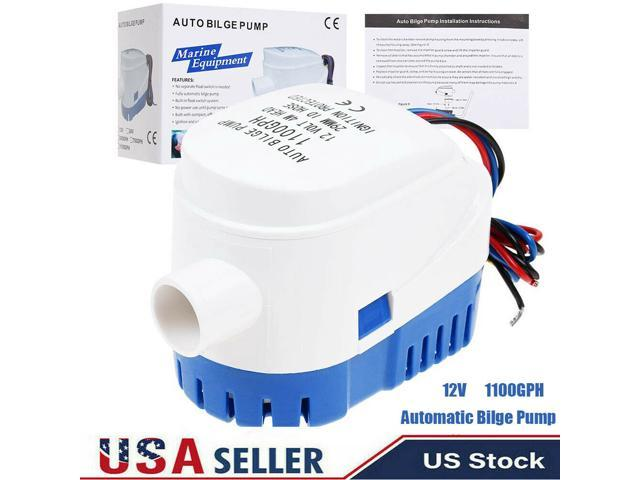 Automc Submersible Boat Bilge Water Pump With Auto Float Switch12V,1100GPH photo