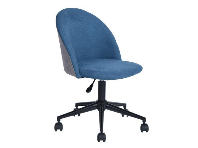 FurnitureR Office Chair Fabric Velvet Patchwork Lounge Chair Swivel Computer Desk Chair (Office Furniture Office Chairs) photo