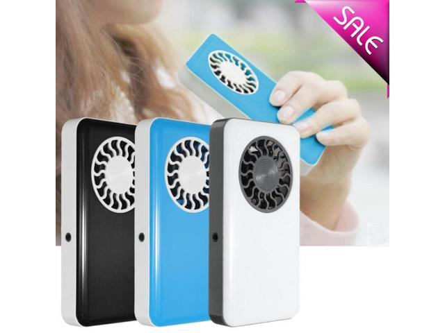 3W DC5V Portable Handheld Cooling Fans USB Mini Air Conditioner Cooler Fan With Rechargeable Battery For Traveling Shopping photo