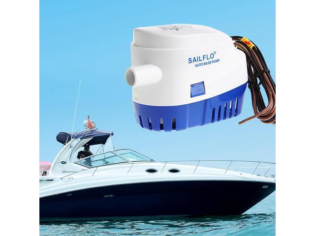 1100GPH 12V Boat Marine Automatic Submersible Bilge Auto Water Pump Float Switch Pumps photo