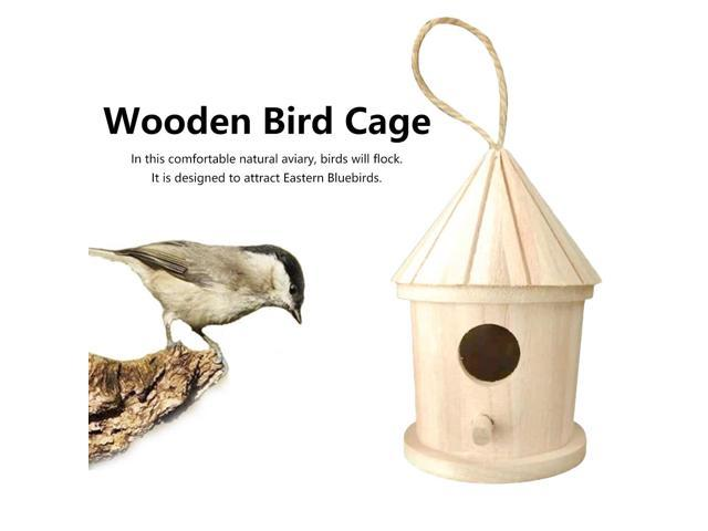 Wood Birds Nest Box DIY Breeding Parrot Swallows Nest Outdoors Roof Wooden Bird House Hanging Decoration (Electronics Computers Handheld Devices Pdas) photo