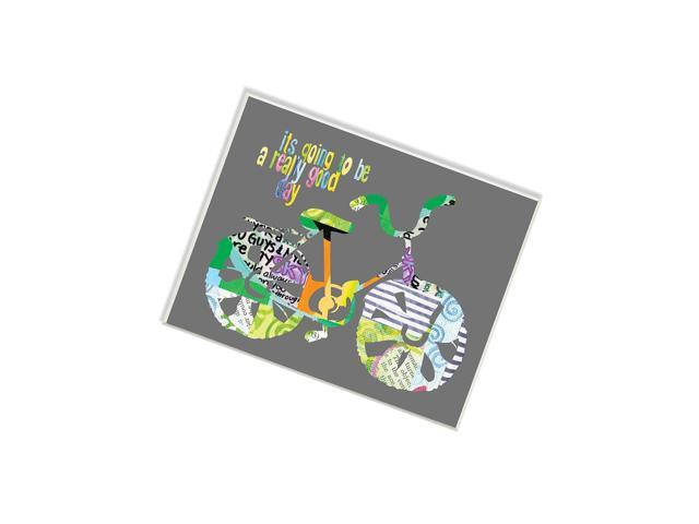 Stupell Home DãCor It'S Going To Be A Really Good Day Bike Graphic Art Wall Plaque, 10 X 0.5 X 15, Proudly Made In Usa photo