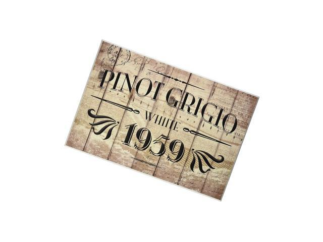 Stupell Home DãCor Pinot Grigio Label Kitchen Wall Plaque, 10 X 0.5 X 15, Proudly Made In Usa photo