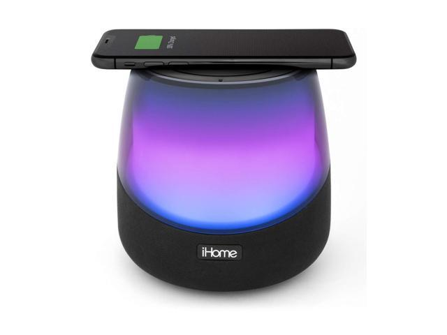 Ibtw750 Color Changing Bluetooth Speaker With Passive Subwoofer And Built In Qi-Certified Wireless Charging Pad photo