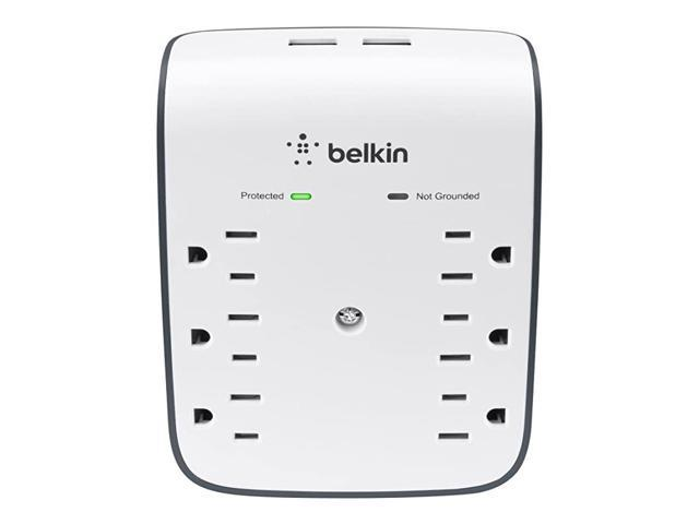 6-Outlet USB Surge Protector, Wall Mount - Ideal for Mobile Devices, Personal Electronics, Small Appliances and More (900 Joules) photo