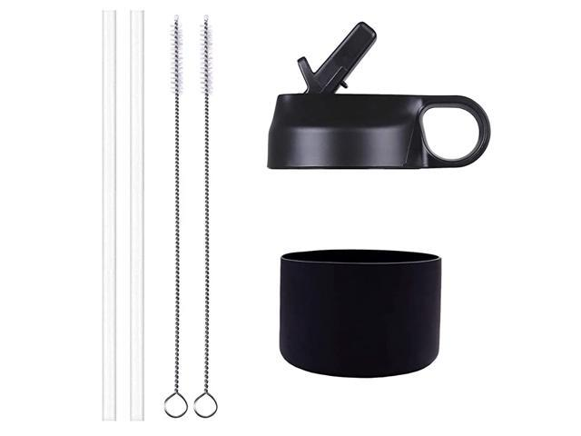 Mass Wide Mouth Straw Lid and Silicon Boot for 1240 oz Hydro Flask and Most Sports Water Bottle Black with Boot for 1224 oz Wide Mouth Bottle photo