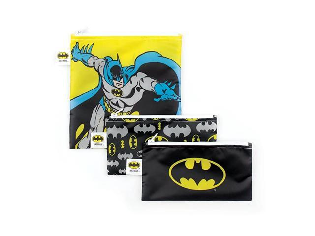 DC Comics Batman Sandwich BagsSnack Bags Reusable Washable Food Safe BPA Free Pack of 3 photo