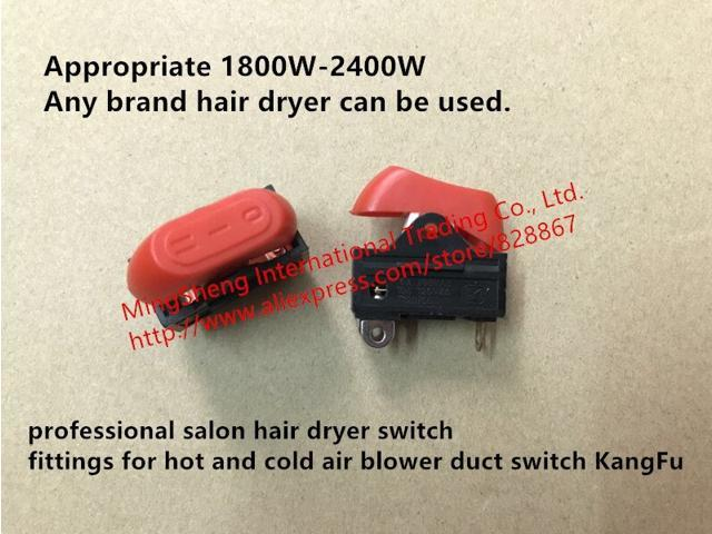 professional salon hair dryer switch fittings for hot and cold air blower duct switch KangFu photo