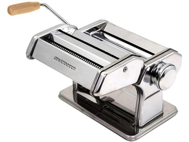 Ovente Manual Stainless Steel Pasta Maker Machine and 7 Thickness Setting (0.5 to 3 mm), Easy Cleaning & Storage with Attachments of Hand Crank. photo