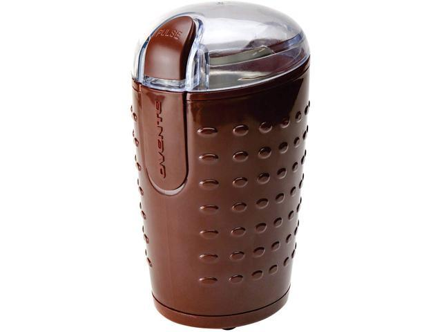 Ovente Electric Small Coffee Grinder 2.5 Ounce Storage, Portable & Compact 150 Watt Fresh Grinding Mill with Stainless Steel Blade for Bean Spices. photo