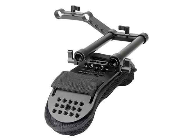 Shoulder Pad with Rail Raiser 15mm Rods for Shoulder Rig System Video Camera DSLR Camcorders