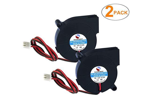 2pcs Cooling Blower Fan DC 12V 0.10A~0.15A 50mmx15mm Fans for 3D Printer Humidifier Aromatherapy and Other Small Appliances Series Repair Replacement photo
