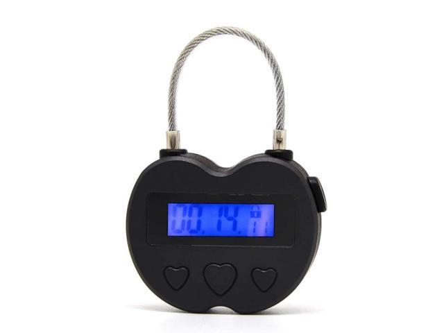 Smart Time Lock LCD Display Time Lock Multifunction Travel Electronic Timer, Waterproof USB Rechargeable Temporary Timer Padlock photo