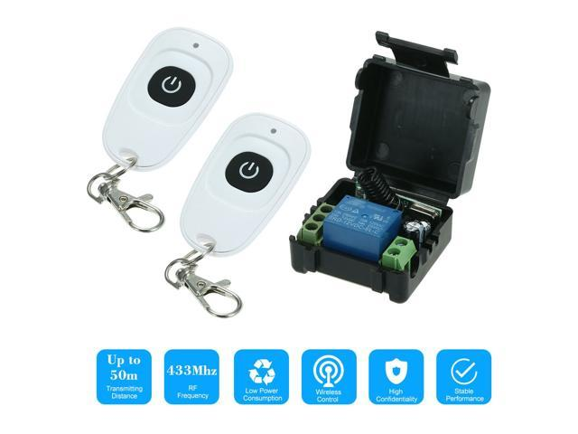 433MHz DC12V 1CH RF Wireless Remote Control Switch + 2PCS RF 433MHz Transmitter Remote Controls For Household Appliances Electronic Lock Control. photo