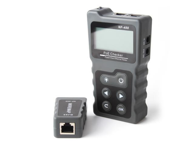 Multi-functional LCD Network Cable Tester PoE Checker Inline PoE Voltage and Current Tester with Cable Tester photo