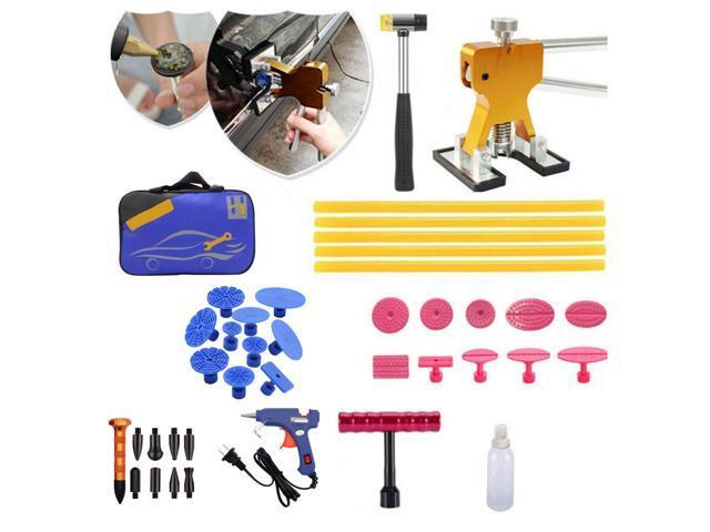 Car Paintless Dent Puller Kit Dent Lifter Hammer Repair Glue-Gun Auto Motorcycle Refrigerator Dent Removal Tools Kit photo