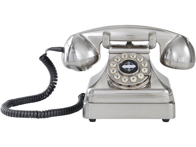 CR62-BC Kettle Classic Desk Phone with Push Button Technology, Brushed Chrome (Electronics Communications Telephony Cordless Phones) photo