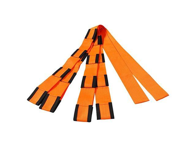 Extended Length 4-Loop, Lifting and Moving Straps for Furniture, Appliances, Mattresses or Heavy Objects up to 800 Pounds 2-Person, Orange/Black. photo