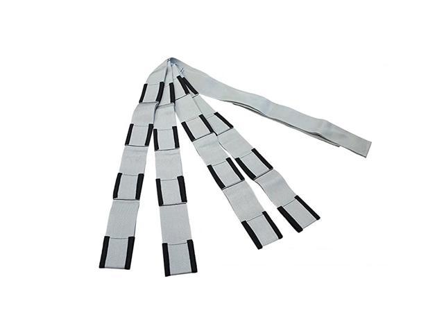 Extended Length 4-Loop, Lifting and Moving Straps for Furniture, Appliances, Mattresses or Heavy Objects up to 800 Pounds 2-Person, Silver/Black. photo