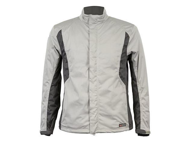 Mens Balmore Heated Rain Jacket (Silver/Gunmetal, XX-Large)