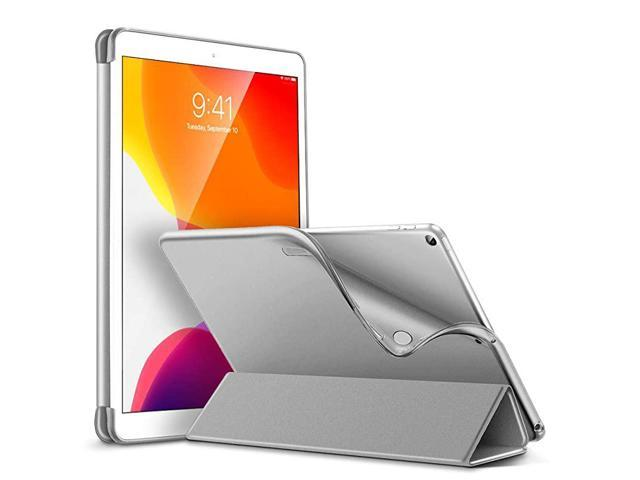 Slim Case for iPad 8th Gen 20207th Gen 2019 Auto SleepWake Cover Flexible Back with ViewingTyping Stand Rebound Series Grey
